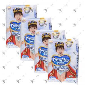 MamyPoko Royal Soft Pants (Boys) X-Large 46S (1Carton=4pack)