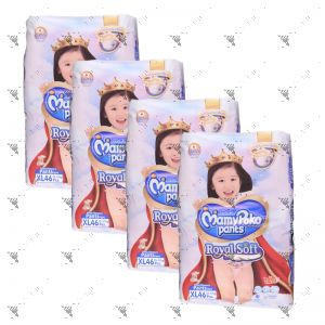 MamyPoko Royal Soft Pants (Girls) X-Large 46S (1Carton=4pack)