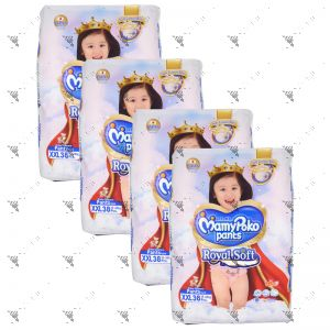MamyPoko Royal Soft Pants (Girls)  XX-Large 38S (1Carton=4pack)