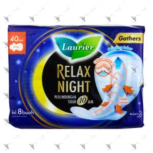Laurier Relax Night with Gathers 40cm Wing 8S