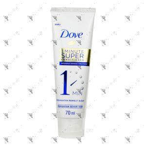 Dove Hair 1 Min Super Conditioner 70ml Intensive Damage Treatment