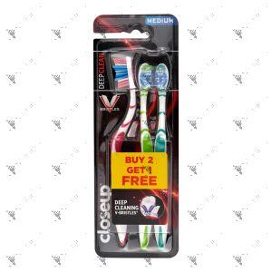 Close Up Toothbrush Deep Clean 2s+1s Medium