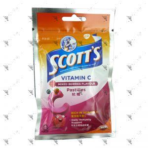 Scott's Vitamin C Pastilles Zipper 30g Mixed Berries