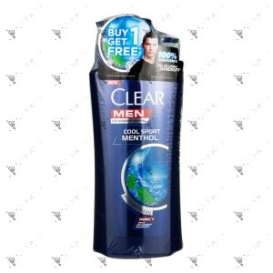 Clear Men Shampoo 650ml + 450ml Cool Sport Menthol