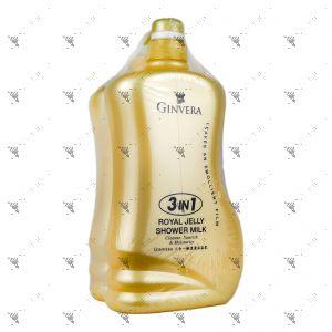 Ginvera 3in1 Royal Jelly Shower Milk 900ml + Refill 900ml