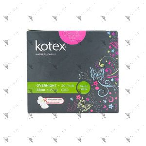 Kotex Natural Care Overnight Wing 32cm 30S Betel Leaf