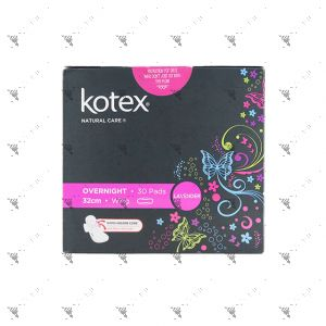 Kotex Natural Care Overnight Wing 32cm 30S Lavender
