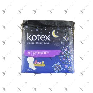 Kotex Super Slim Overnight Wing Heavy Flow 41cm 12S