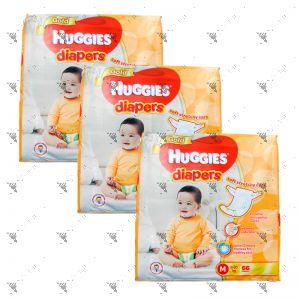 Huggies Gold Diapers Medium 66S (1Carton=3pack)