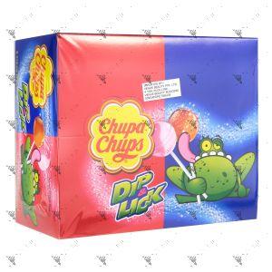 Chupa Chups Lollipops Dip & lick (6Strawberry) + (6Cola)