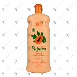 RDL  Whitening hand & Body Lotion 600ml Papaya Extract