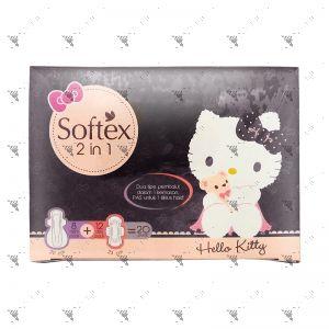 Softex HelloKitty 2-in-1 Night 8s + Day 12s