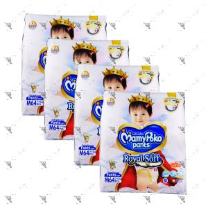 MamyPoko Royal Soft Pants (Girls) Medium 64S (1Carton=4Pack)