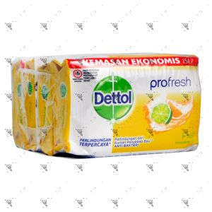 Dettol Anti-Bacterial Bar Soap (105gx4) Fresh