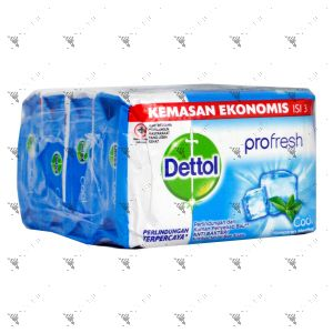 Dettol Anti-Bacterial Bar Soap (105gx4) Cool