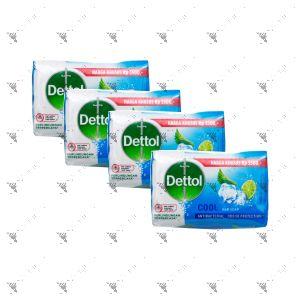 Dettol Anti-Bacterial Bar Soap (100gx4) Cool