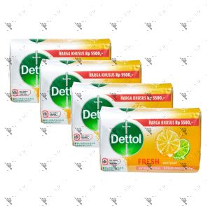 Dettol Anti-Bacterial Bar Soap (100gx4) Fresh