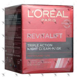 L'Oreal Revitalift Triple Action Night Cream - Mask 50ml