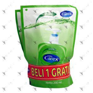 Carex AntiBacterial Hand Wash 200ml Twin Pack Aloe Vera Green