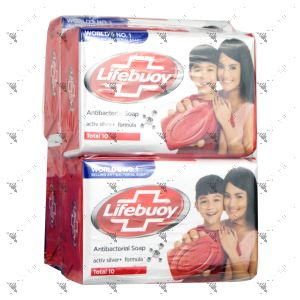 Lifebuoy Anti-Bacterial Soap 85gx4 (Total 10)