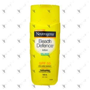 Neutrogena Beach Defence Sun + Water Sunscreen lotion SPF 50 198ml
