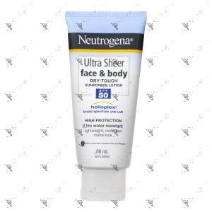 Neutrogena Ultra Sheer Face & Body Dry-Touch Sunscreen Lotion SPF 50 88ml
