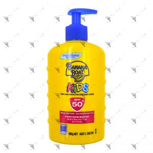 Banana Boat Kids Sunscreen Lotion SPF50+ UVA/UVB Pump 400g