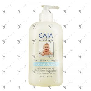 Gaia Natural Baby Hair & Body Wash 500ml
