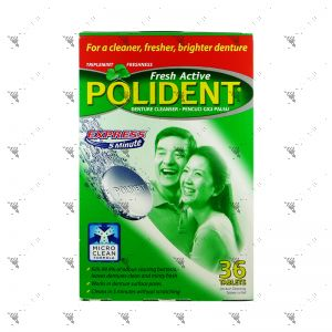 Polident Denture Cleanser  Fresh Active Express 36S