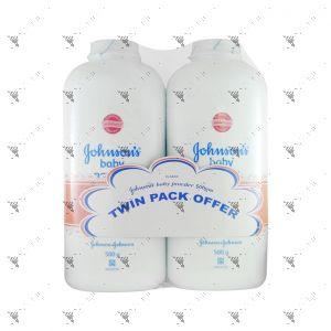 Johnson's Powder Twin Pack 500g Classic