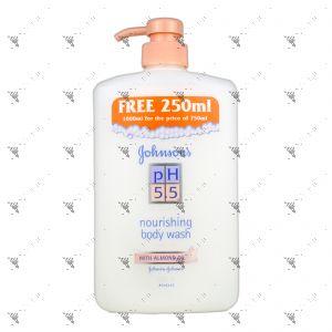Johnson's pH Body Wash 750+250ml Almond