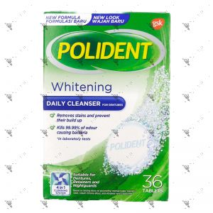 Polident Denture Cleanser Overnight Whitening 36S