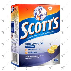 Scott's Pure Cod Liver Oil 500 Capsules