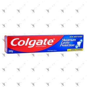 Colgate Toothpaste Maximum Cavity Protection 100g Great Regular Flavor