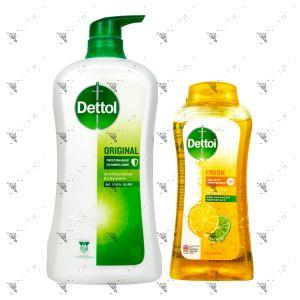 Dettol Shower Gel 950g Original + Fresh 300g