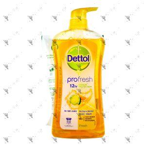 Dettol Shower Gel 950g Fresh + Refill 410g Moisture