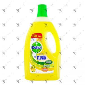 Dettol 4-in-1 Disinfectant Multi Action Cleaner 1.5L+33% Citrus