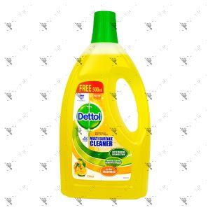 Dettol Multi Surface Cleaner 1.5L+500ml Citrus