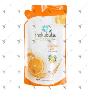 Shokubutsu Shower Cream Refill 550g Orange Peel Sensation