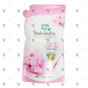 Shokubutsu Shower Cream Refill 550g Sakura Whitening