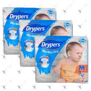 Drypers Wee Wee Dry M 74s (1Carton=3pack)
