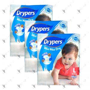 Drypers Wee Wee Dry L 62s (1Carton=3pack)