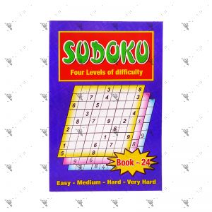Sudoku Four Levels of Difficulty Book 24