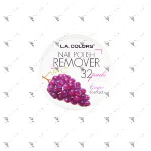 L.A.COLORS Nail Polish Remover 32 Pads Grape Scented