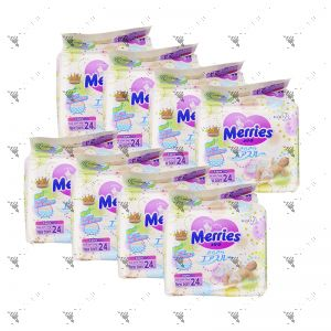 Merries Tape Diaper Newborn 24S (1Carton=8pack)