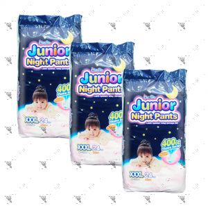 MamyPoko Junior Night Pants (Girls) XXX-Large 24S (1Carton=3pack)
