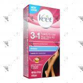 Veet Wax Strip Kit for Legs & Body 40s + 4 Wipes