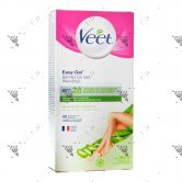 Veet Easy-Gel Wax Strip Kit Dry Skin Leg & Body 40s+4Wipes