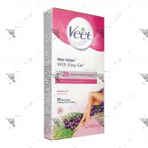 Veet EasyGrip Wax Strips Legs & Body - Normal Skin (20s)