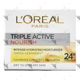 L'Oreal Triple Active Nourish Moisturizer 50ml Dry/Very Dry Skin